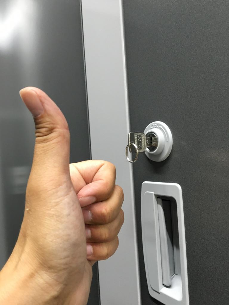 神戸トランクルーム施錠